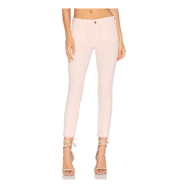"DL1961 Florence Instasculpt Cropped Skinny - ""Cotton blend. Frayed raw cut hem. 13"""" at the knee narrows..."