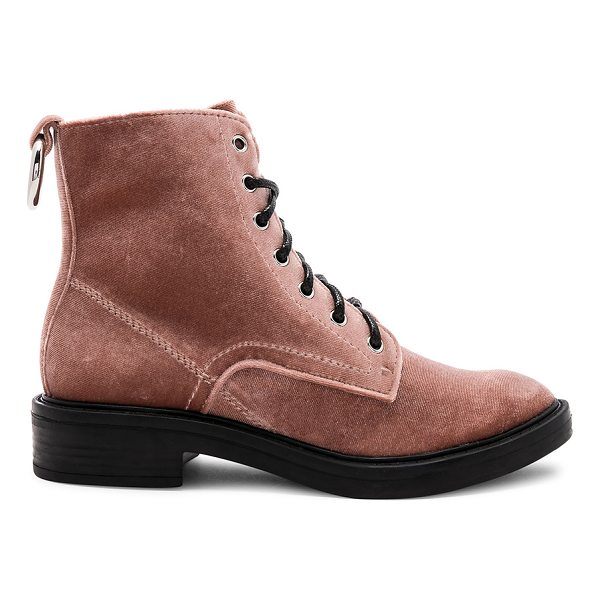 """DOLCE VITA Bardot Boot - """"Velvet upper with man made sole. Lace-up front. Heel..."""