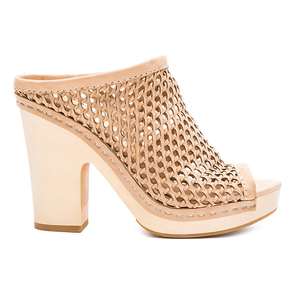 DOLCE VITA Brooks Heel - Sheer woven leather upper with rubber sole. Slip-on...