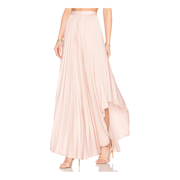 DOLCE VITA Camryn Maxi Skirt - Poly blend. Hand wash cold. Unlined. Pleated fabric....