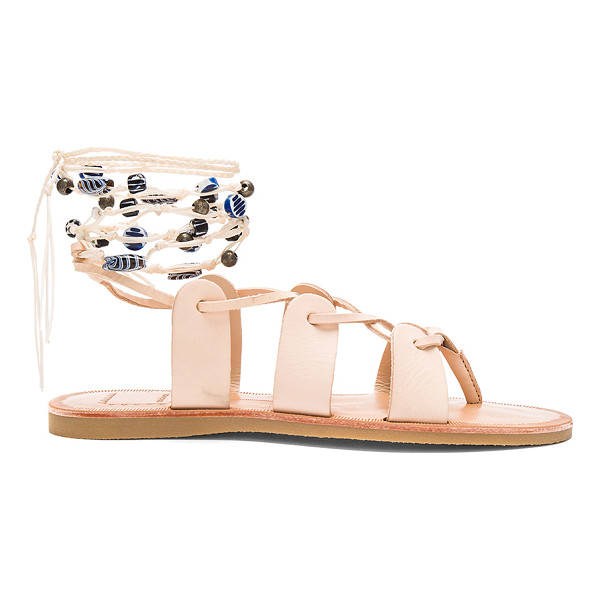 DOLCE VITA Jalen Sandal - Leather upper with rubber sole. Lace-up front with braid...