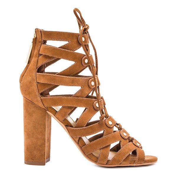 DOLCE VITA Karli heel - Suede upper with rubber sole. Caged cut-out detail. Lace-up...
