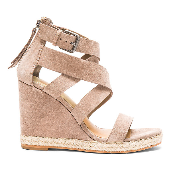 DOLCE VITA Kova Sandal - Suede upper with man made sole. Jute trim. Ankle strap with...