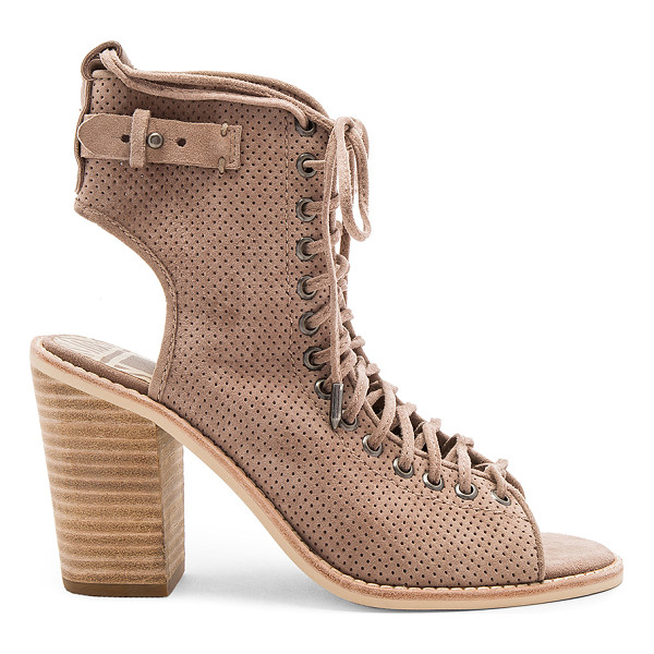 DOLCE VITA Loren Heel - Suede upper with man made sole. Side zip closure. Lace-up