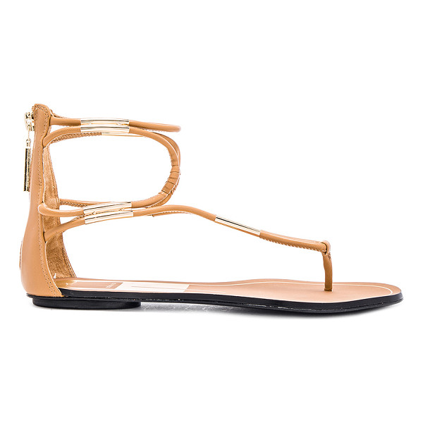 DOLCE VITA Mira sandal - Faux leather upper with leather sole. Metallic gold toned...