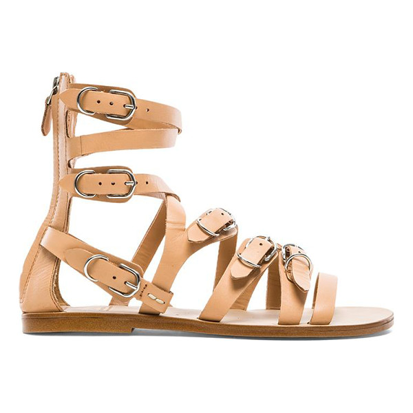 DOLCE VITA Okena sandal - Leather upper with man made sole. Multi buckle detail. Back...