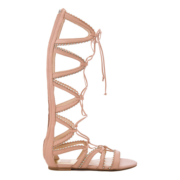 DOLCE VITA Raleigh Sandal - Leather upper with man made sole. Back zip closure. Lace-up...