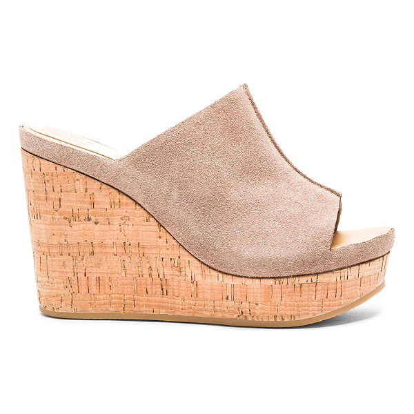 DOLCE VITA Ross sandal - Suede upper with rubber sole. Slip-on styling. Heel...