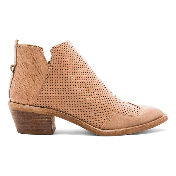 DOLCE VITA Sahira Bootie - Leather upper with man made sole. Side zip closure.