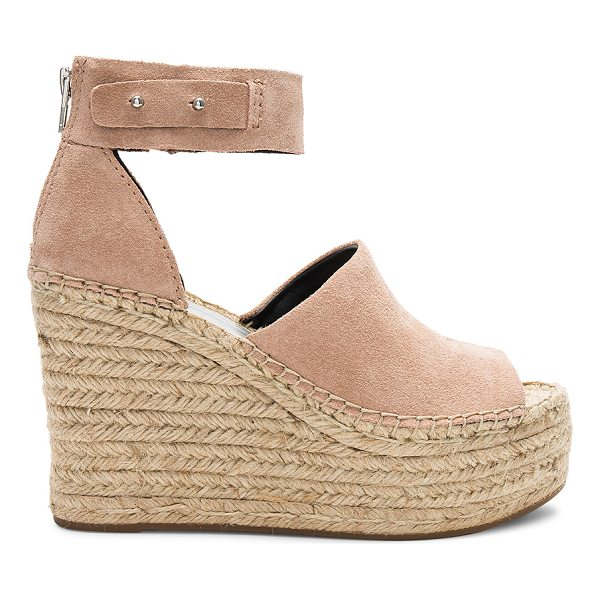 """DOLCE VITA Straw Wedge - """"Suede upper with rubber sole. Back zip closure. Ankle..."""
