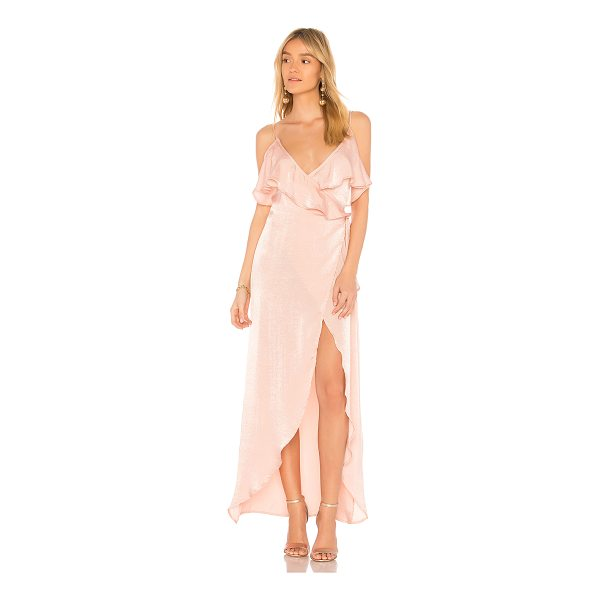 DONNA MIZANI Gracie Dress - 100% poly. Dry clean only. Unlined. Wrap design with tie...