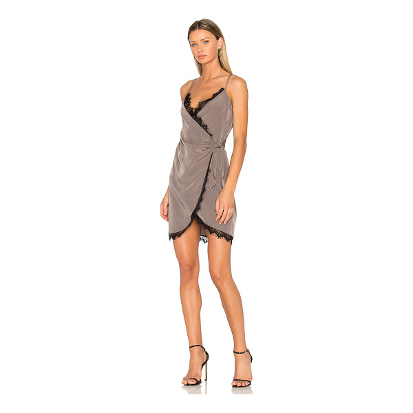 DONNA MIZANI Olivia Dress - 100% poly. Dry clean only. Unlined. Adjustable shoulder...