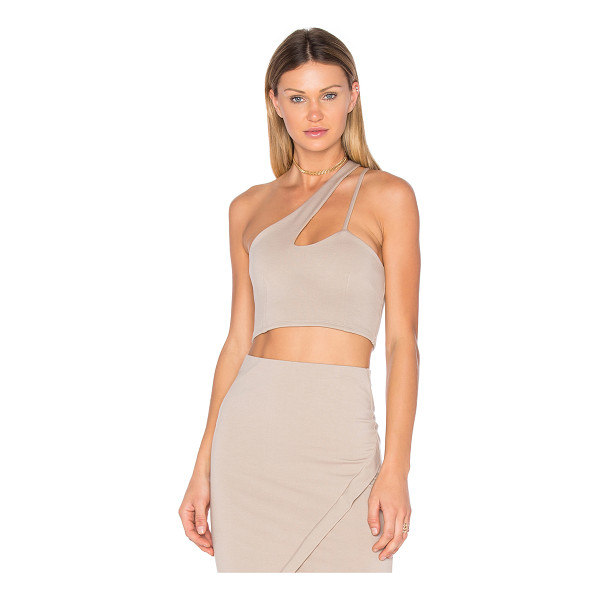 DONNA MIZANI X Front Crop Top - 60% rayon 40% nylon. Dry clean only. Stretch fit....