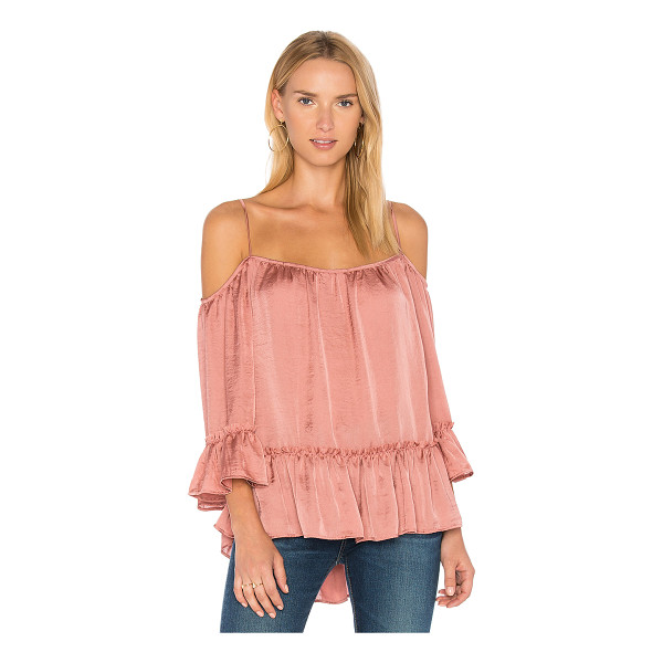 EASTNWEST Hamilton Top - Poly blend. Dry clean only. Shirred ruffle sleeves and hem....