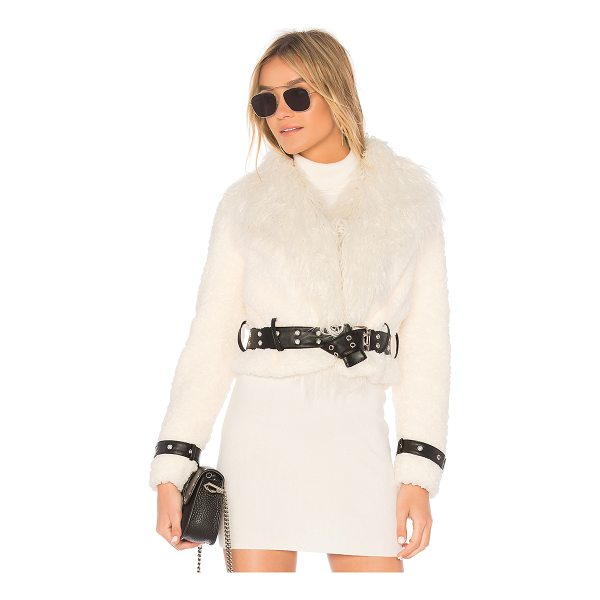 EAVES Caden Faux Fur Jacket - The moto jacket of your dreams: EAVES' Caden Faux Fur...