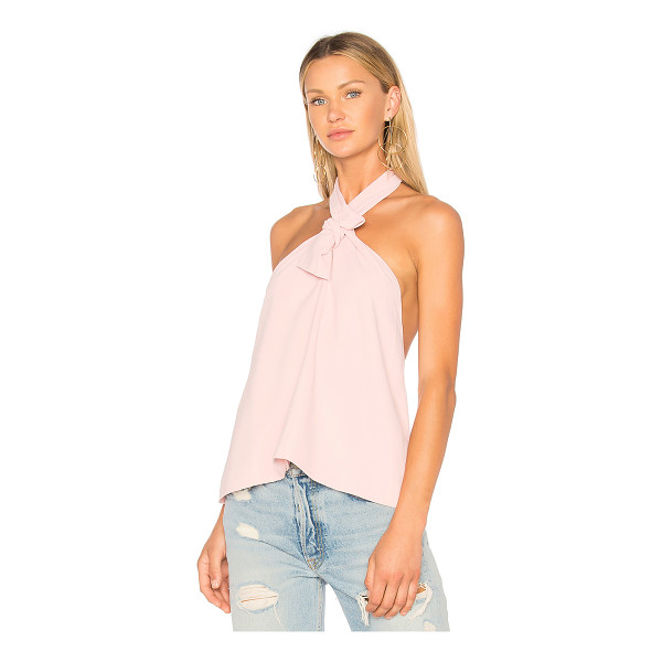 EDIT Halter Neck Top - 100% poly. Dry clean only. Halter neck with tie closure....