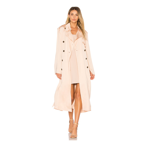 ELIZABETH AND JAMES Aaron Oversized Trench Coat - 100% viscose. Dry clean only. Button front closure. Belted...