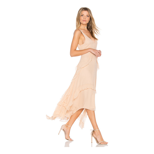 ELIZABETH AND JAMES Catherine Gown - Silk blend. Dry clean only. Fully lined. Ruffle trim....