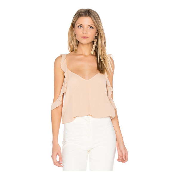 ELIZABETH AND JAMES Cheryl Ruffle Tank - Silk blend. Dry clean only. Ruffle trim. EAND-WS424....