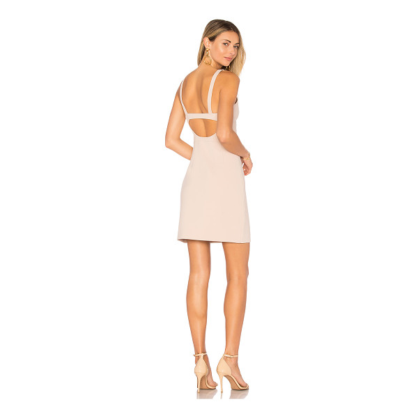 ELIZABETH AND JAMES Huette Buckle Back Dress - Self: 68% poly 27% rayon 5% spandexLining: 95% poly 5%...