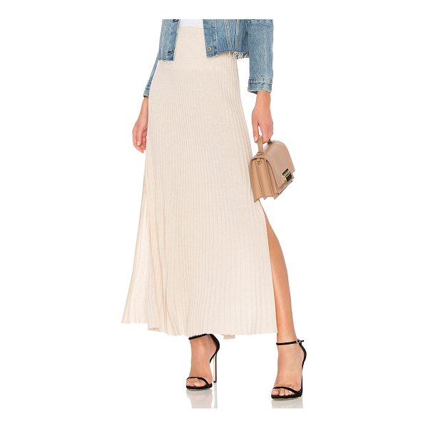 "ELIZABETH AND JAMES Joelle Long Rib Skirt - ""44% wool 32% viscose 17% polyamide 7% cashmere. Dry clean..."