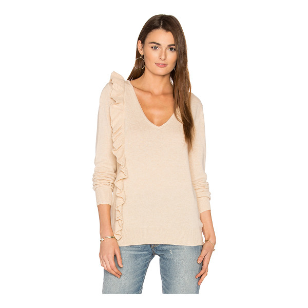 ELIZABETH AND JAMES Odell Ruffle Top - 45% wool 30% viscose 15% nylon 10% cashmere. Dry clean...