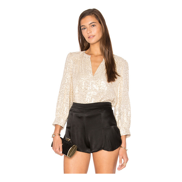 ELIZABETH AND JAMES Shelly Top - Shell: 65% silk 35% metallic Lining: 100% poly. Dry clean...