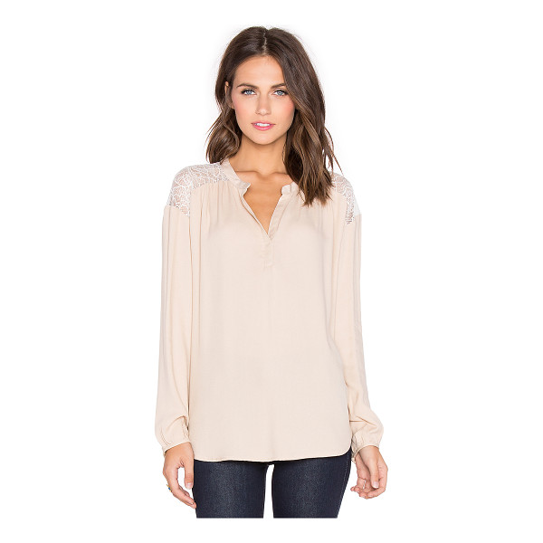 ELLA MOSS Amara Top - 100% rayonContrast: 100% nylon. Dry clean only. Buttoned...