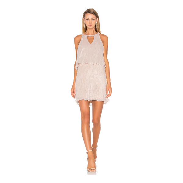 ELLA MOSS Cerine Dress - Poly blend. Dry clean only. Fully lined. Braided neckline...