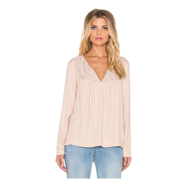 ELLA MOSS Stella Blouse - 100% rayon. Dry clean only. Front tie closure. ELLA-WS2655....