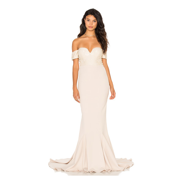 ELLE ZEITOUNE Annabella Gown - Poly/Polyamide blend. Hand wash cold. Partially lined. Lace...