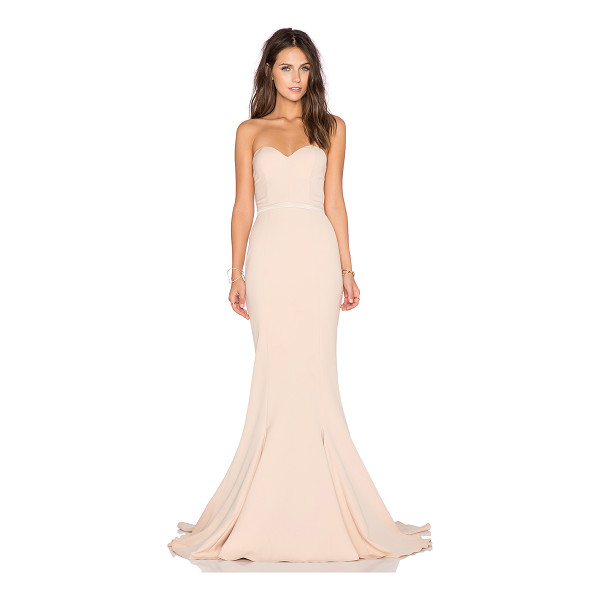ELLE ZEITOUNE Arianna Gown - Poly blend. Dry clean only. Neckline shortest hem measures...