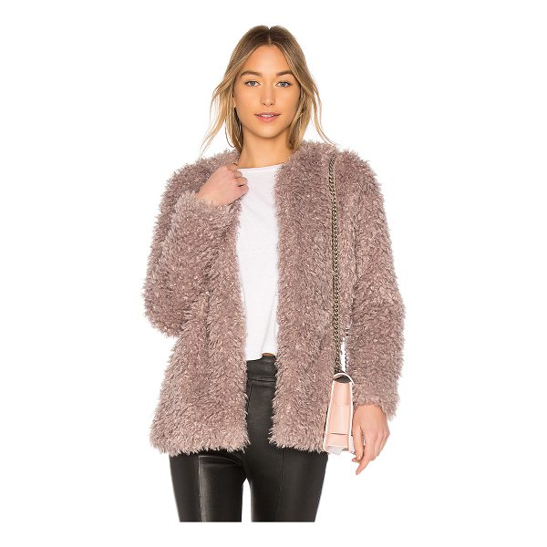 ENDLESS ROSE Faux Fur Jacket - Self: 80% acrylic 20% polyLining: 70% poly 30% cotton. Dry...