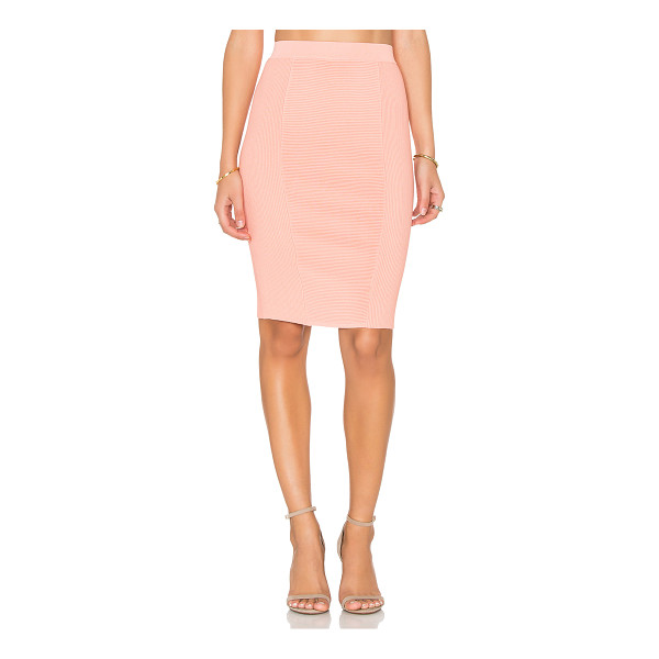 ENDLESS ROSE Knit Midi Skirt - 65% rayon 35% nylon. Hand wash cold. Unlined. Stretch fit....