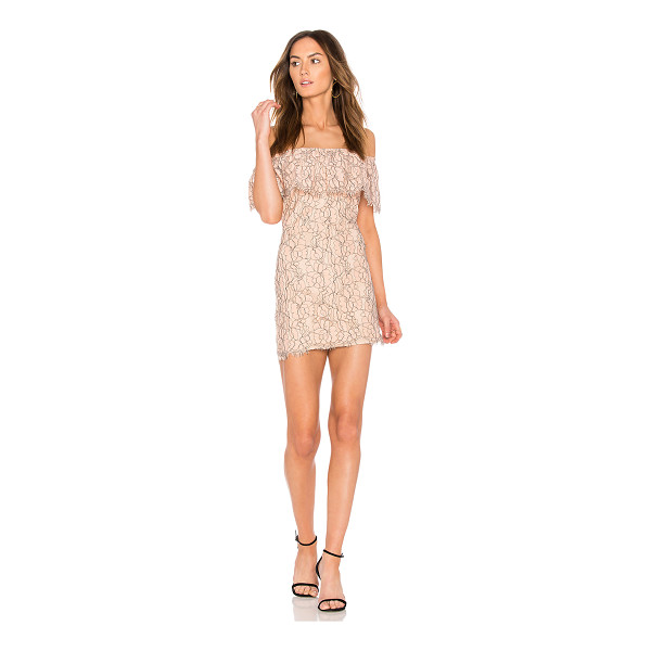 """ENDLESS ROSE Lace Off The Shoulder Dress - """"Self & Lining: 100% poly. Hand wash cold. Fully lined...."""