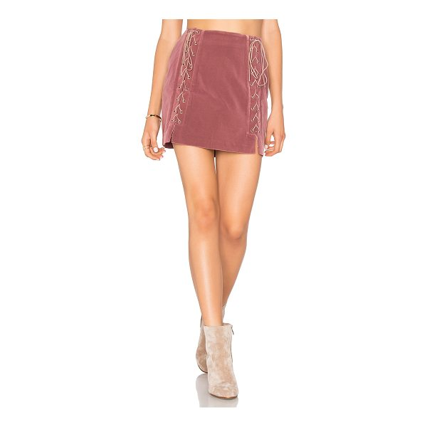 "ENDLESS ROSE Lace Up Skirt - ""Self & Lining: 100% poly. Dry clean only. Fully lined...."