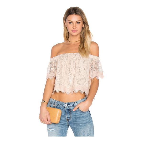 ENDLESS ROSE Off The Shoulder Lace Top - Shell: 95% poly 5% elastaneLining: 100% poly. Hand wash...
