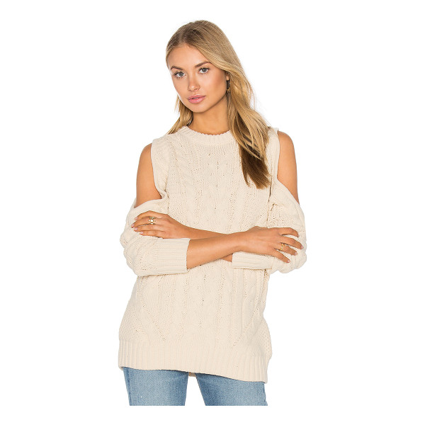 ENDLESS ROSE Open Shoulder Sweater - 55% acrylic 45% cotton. Hand wash cold. ENDR-WK6. 1514T6FR....