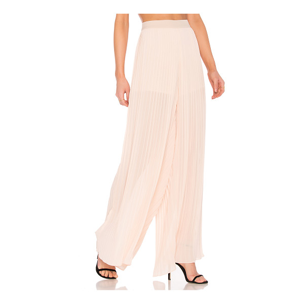 ENDLESS ROSE Pleated Palazzo Pants - Self: 100% polyLining: 97% poly 3% spandex. Hand wash cold....