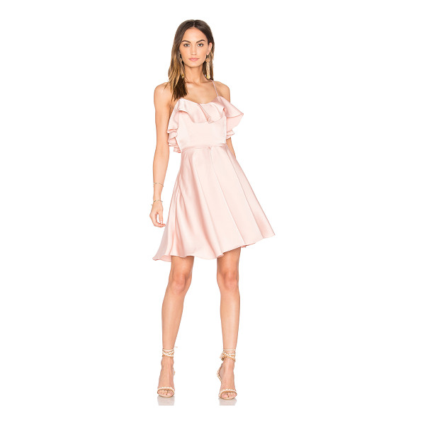 ENDLESS ROSE Ruffled Fit and Flare Dress - Self: 98% poly 2% spandexLining: 97% poly 3%...