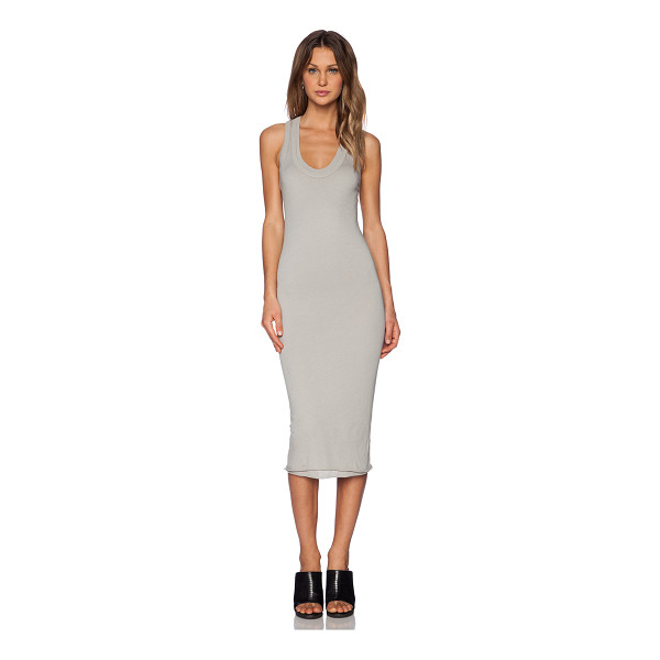ENZA COSTA Bold doubled racer dress - 100% pima cotton. Raw edge trim. Racerback. ENZA-WD76....