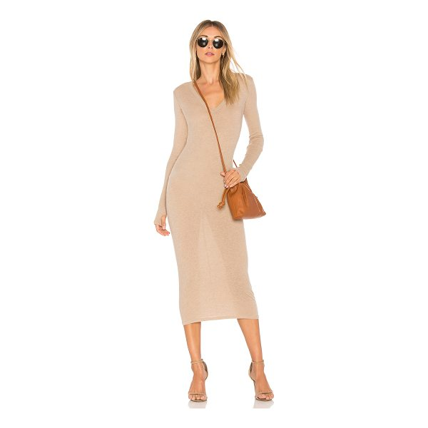 ENZA COSTA Rib Long Sleeve Dress - 85% cotton 15% cashmere. Hand wash cold. Unlined. Knit...
