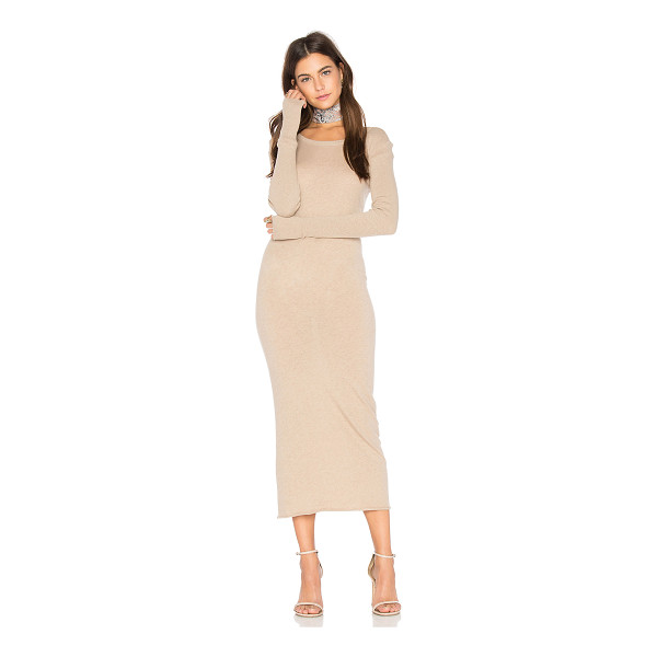 ENZA COSTA x REVOLVE Cashmere Long Sleeve Crew Dress - 85% cotton 15% cashmere. Hand wash cold. Unlined. Ribbed...
