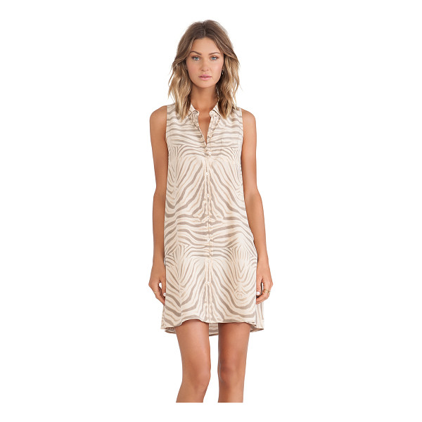 EQUIPMENT Mina endangered dress - 100% silk. Dry clean only. Unlined. Button front closure....