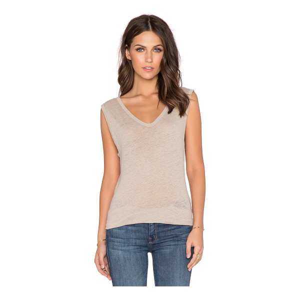 EVER Lola low back tank - 100% linen. Slub knit. Low back detail. EVER-WS175....