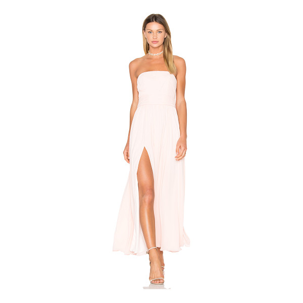 "FAME AND PARTNERS X REVOLVE Sandra Maxi Dress in Pale Link - ""Main & Lining: 100% poly. Dry clean only. Fully lined...."