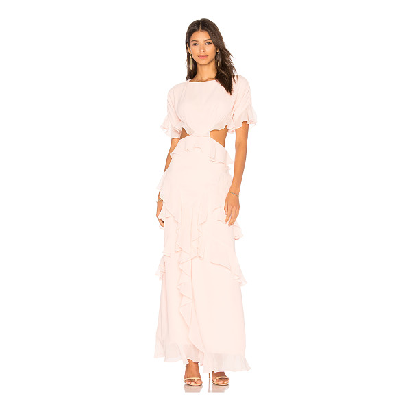 FAME AND PARTNERS x REVOLVE Marisa Ruffle Dress - Self & Lining: 100% poly. Dry clean only. Fully lined....