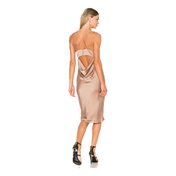 FAME AND PARTNERS X REVOLVE Ziv Midi Dress - Poly blend. Dry clean only. Fully lined. Back cut-out with...