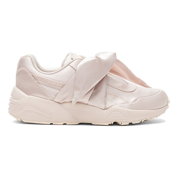 FENTY PUMA BY RIHANNA Bow Sneaker - Satin textile upper with rubber sole. Front bow closure....