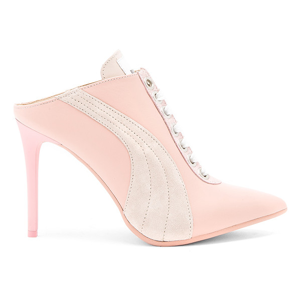 FENTY PUMA BY RIHANNA Lace Up Mule - Leather upper with man made sole. Lace-up front. Heel...